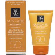 Suncare Anti Spot Face Cream With Sea Fennel & 3D Pro Algae Spf50, 50ml - Apivita