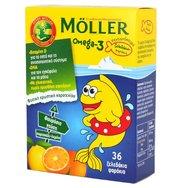 Möller's Ω3 Λιπαρά Οξέα Ειδικά Σχεδιασμένο για Παιδιά, με Γεύση Πορτοκάλι - Λεμόνι, 36 gummies