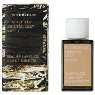 Korres Eau de Toilette Black Sugar Oriental Lily & Violet Γυναικείο Άρωμα 50 ml