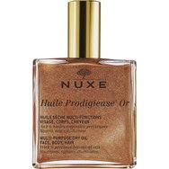 NUXE Huile Prodigieuse OR - Ξηρό Λάδι Ενυδάτωσης και Λάμψης για Πρόσωπο-Σώμα-Μαλλιά με Χρυσαφένια Λάμψη 50ml