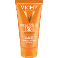 Vichy Ideal Soleil Emulsion Dry Touch Spf50 Αντηλιακή Λεπτόρρευστη Κρέμα Προσώπου Υψηλής Προστασίας & για Ματ Αποτέλεσμα 50ml