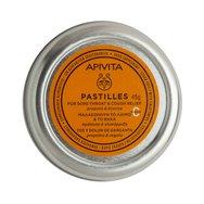 Apivita Pastilles Propolis & Licorice Παστίλιες Πρόπολη & Γλυκόριζα Μαλακώνουν τον Πονεμένο Λαιμό & Καταπραΰνουν το Βήχα 45gr