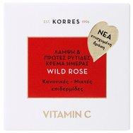 Korres Wild Rose Face Cream Άγριο Τριαντάφυλλο Κρέμα Προσώπου 24ωρης Ενυδάτωσης & Λάμψης για Κανονικές/Μικτές Επιδερμίδες 40ml