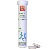 Nutralead Multi+ Energy Πολυβιταμίνη με Τζίνσενγκ, Q10 & Γκουαρανά για Ενέργεια & Τόνωση 20tabs