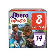 Libero Up&Go Πάνα, Βρακάκι Νο8 19-30Kg 14 πάνες