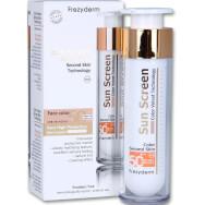 Sun Screen Color Velvet Face Cream Spf50+, 50ml - Frezyderm,Αντηλιακή Προσώπου με Χρώμα, Πολύ Υψηλής Προστασίας & Βελούδινης Υφή