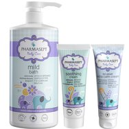 Pharmasept Πακέτο Προσφοράς Baby Care Mild Bath 1Lt & Tol Velvet Baby Soothing Cream 150ml & Baby Extra Calm Cream 150ml