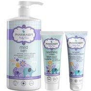 Pharmasept Πακέτο Προσφοράς Baby Care Mild Bath 1Lt & Tol Velvet Baby Soothing Cream 150ml & Baby Extra Calm Cream 150ml