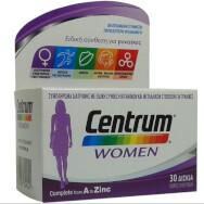 Centrum Women Συμπλήρωμα Διατροφής, Βελτιωμένη Ειδική Σύνθεση Βιταμινών, Μεταλλικών Στοιχείων & Βιταμίνης D, για Γυναίκες 30Tabs