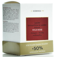 Korres Special Edition Άγριο Τριαντάφυλλο Κρέμα 24ώρης Ενυδάτωσης Λάμψης για Λιπαρές Μικτές Επιδερμίδες 50% Επιπλέον Προϊόν 60ml