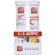 NutraLead Multi+Daily Πολυβιταμίνη, Ρόδι Μέταλλα Ιχνοστοιχεία για Αντιοξειδωτική Προστασία 20eff.tb &Δώρο Βιταμίνη C 550mg 20eff