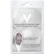 Vichy Masque Argile Purifiant Pores Μάσκα Αργίλου για Καθαρισμό και Σύσφιξη των Πόρων 2x6ml