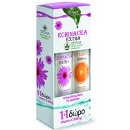 Power Health Echinacea Extra με Στέβια 24Effer.Tabs & Βιταμίνη C 500mg 20Effer.Tabs 1+1 Δώρο