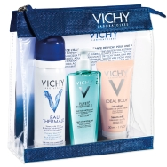 Δώρο Vichy Mini Προϊόντα Ολοκληρωμένης Περιποίησης Eau Thermal 50g, Purete Thermal Gel 15ml & Ideal Body Lait Serum 30ml